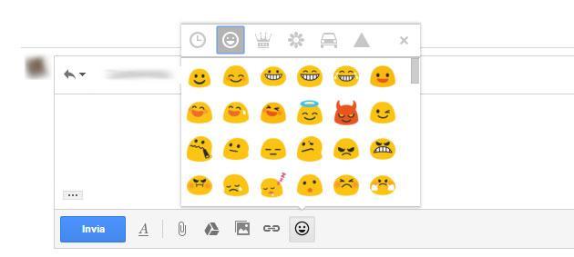 Gmail, arrivano le Emoji