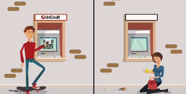 QR Code per prelevare dagli sportelli, Unicredit lancia Prelievo Smart