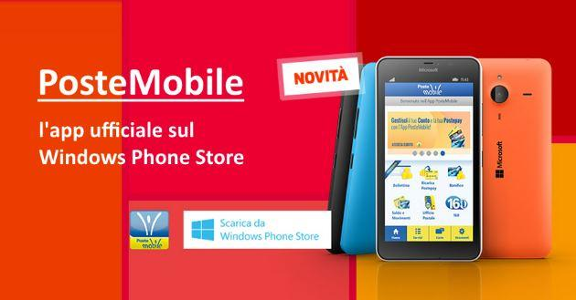 PosteMobile, l'App ufficiale arriva per Windows Phone