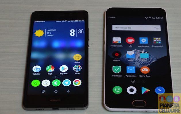 Huawei P8 Lite vs Meizu M2 Note, il nostro confronto