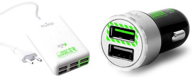 PURO Fast Charger, nuova linea di accessori per ricaricare smartphone, phablet e tablet