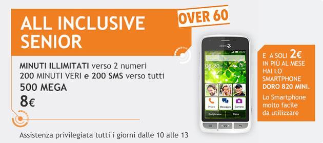 Wind, per utenti Senior nuova offerta All Inclusive con smartphone Doro Liberto 820 Mini