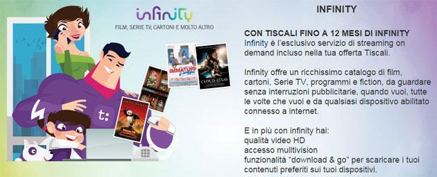 Tiscali Infinity: fino a 12 mesi di Infinity gratuito per clienti Tiscali