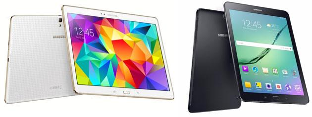Samsung Galaxy Tab S vs Tab S2, specifiche a confronto
