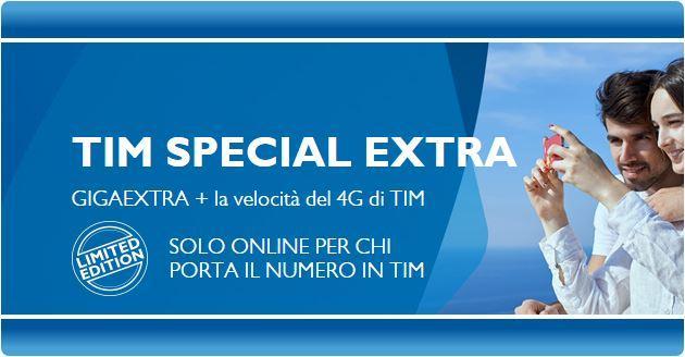 Tim Special Extra Limited Edition: 3 GB e 1000 minuti a 10 euro