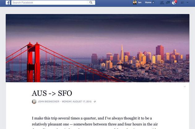 Facebook testa nuovo look per Note, simile a Tumblr