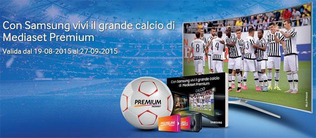 Samsung regala il calcio di Mediaset Premium