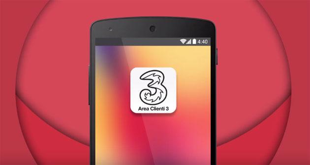 3 Italia rinnova app mobile Area Clienti 3