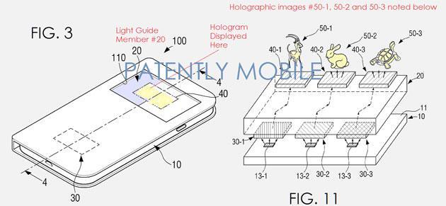 Samsung brevetta Smartphone con ologrammi