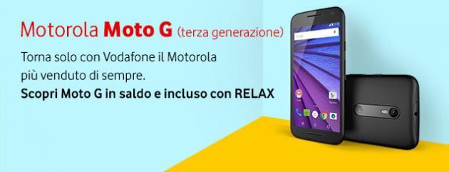 Motorola Moto G 2015 in esclusiva con Vodafone: le offerte