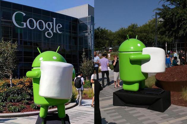 Google introduce la statua di Android Marshmallow 6.0