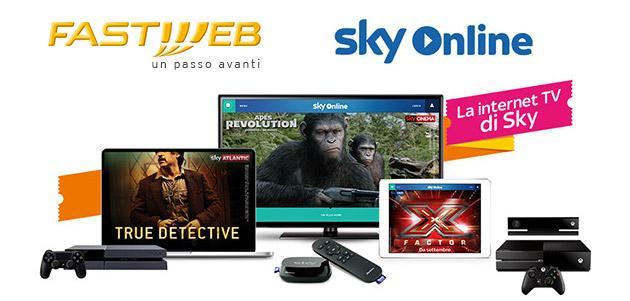 Fastweb e Sky, accordo per includere Sky Online nelle offerte Fastweb