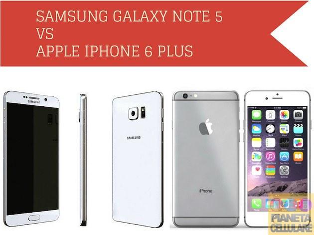 Samsung Galaxy Note 5 vs Apple iPhone 6 Plus, caratteristiche a confronto