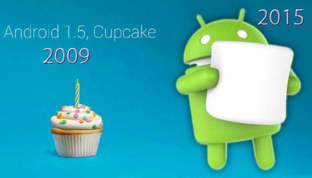 Android da Cupcake a Marshmallow: tutte le versioni di Android