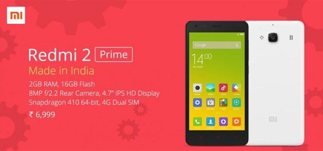 Xiaomi Redmi 2 Prime, piccolo aggiornamento di Redmi 2