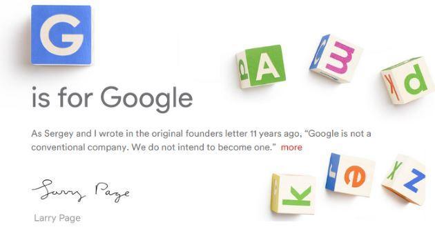 Google diventa Alphabet Inc, rivoluzione societaria in casa Google