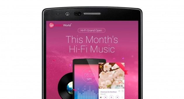 LG annuncia servizio di musica ad Alta Risoluzione per smartphone LG