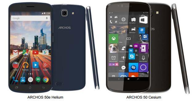 Archos 50e Helium e 50 Cesium: Windows 10 e Android 5.1 a 99 sterline