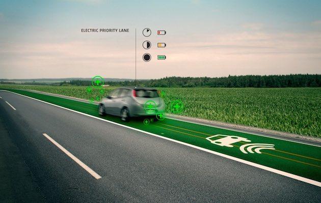Auto elettriche, nel 2015 i test delle corsie autostradali con ricarica senza fili