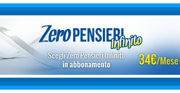 PosteMobile Zero Pensieri Infinito: 34 euro al mese per SMS, minuti e 1 solo GB