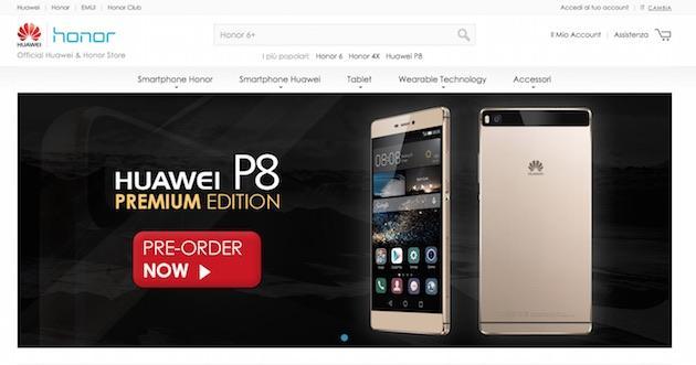 Huawei ed Honor, online lo Store Europeo