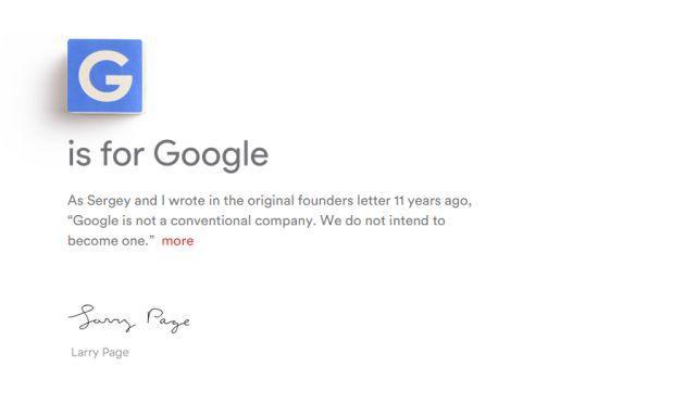 Alphabet, la nuova Google pronta a Fare la Cosa Giusta