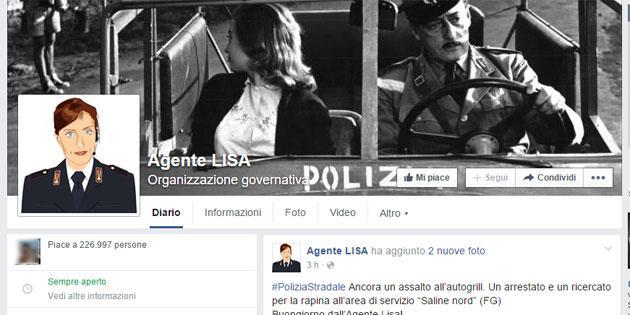 Agente Lisa su Facebook e Twitter, Polizia di Stato sempre piu' Social