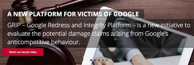 Grip, piattaforma per chiedere risarcimento danni a Google