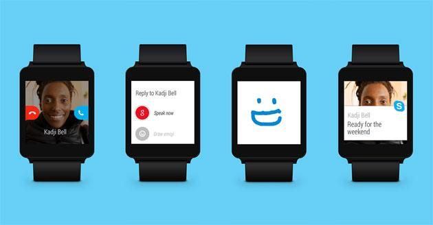 Skype arriva sugli smartwatch Android Wear