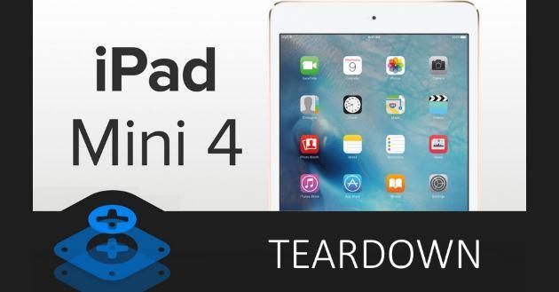 iPad Mini 4 smontato pezzo per pezzo: batteria da 5.124 mAh e 2 GB di RAM