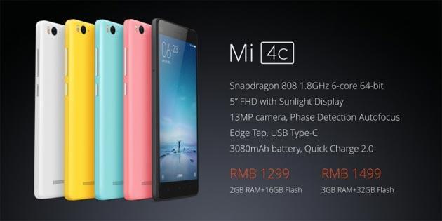 Xiaomi Mi 4c Ufficiale: Foto, Specifiche, Prezzi