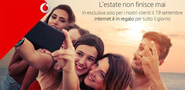 Vodafone: Internet gratis Sabato 19 Settembre 2015