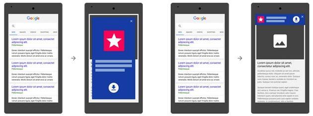 Google: no Mobile Friendly siti che mostrano annunci di app a tutto schermo
