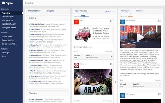 Facebook Signal, nuovo strumento per giornalisti