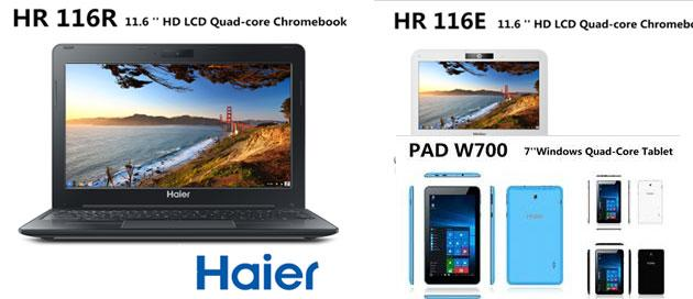 Haier a IFA 2015 con nuovi  Chromebook e tablet Android, Windows 10