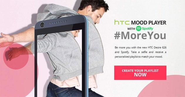 Spotify, con HTC Mood Player creiamo playlist che rispecchiano l'umore