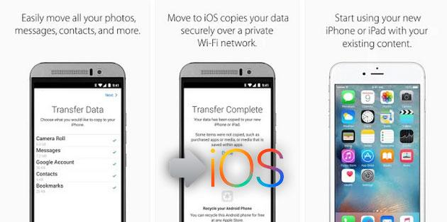 Move to iOS, app Apple per passare da Android a iPhone o iPad