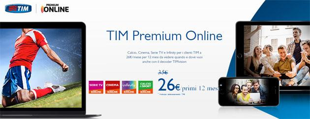 TIM Premium Online, nuova offerta congiunta Mediaset-TIM