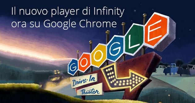 Infinity torna disponibile sul browser Google Chrome, nuovo player in HTML5