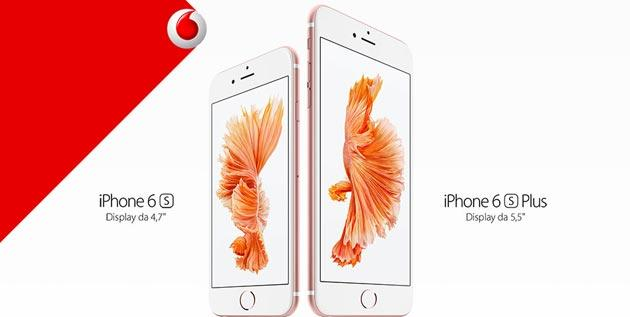 Apple iPhone 6s con Vodafone: offerte Ricaricabile e Abbonamento