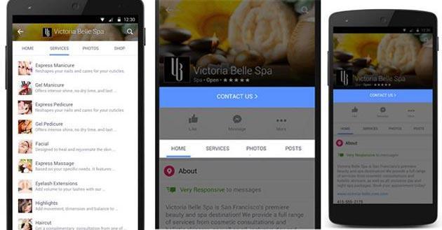 Facebook aggiorna Pagine su mobile e web