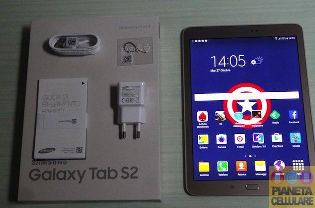 Samsung Galaxy Tab S2 9.7, unboxing del Tablet Android che sfida Apple iPad