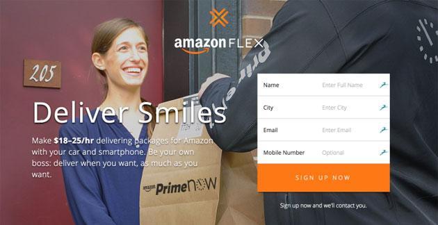 Amazon Flex, gli utenti possono ora consegnare pacchi
