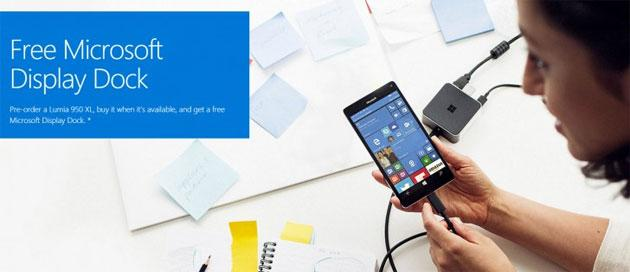 Microsoft regala la Display Dock a chi acquista Lumia 950 XL in alcuni paesi