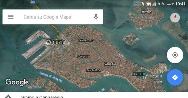 Google Maps, Download aree e Navigazione offline