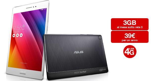 Tre e Asus: 39 euro all'anno per 3 GB al mese con Super 3GB Internet