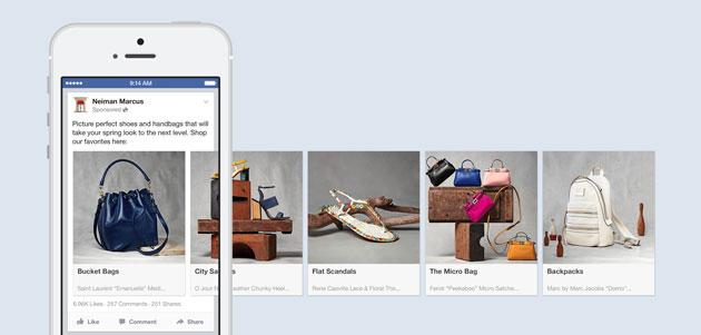 Facebook testa la sezione Shopping feed