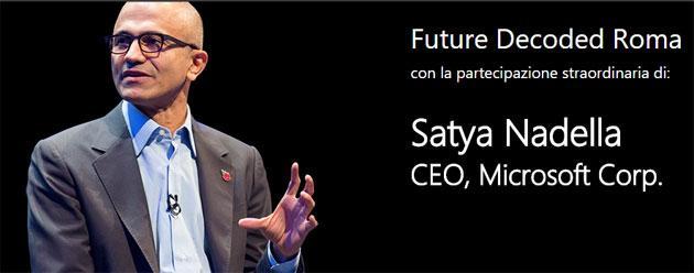 Nadella di Microsoft a Roma: Cloud, Mobile sono il Futuro