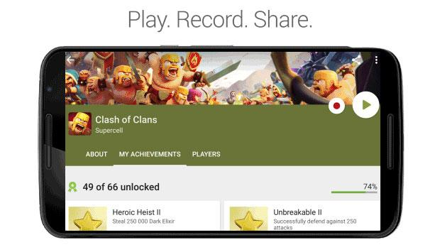 Google Play Games registra le sessioni di gioco da condividere su Youtube
