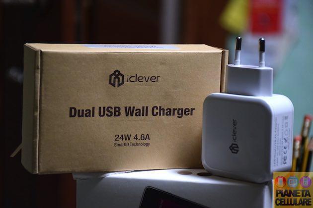 Recensione caricatore doppia USB iClever 4,8 Ah, versatile e veloce